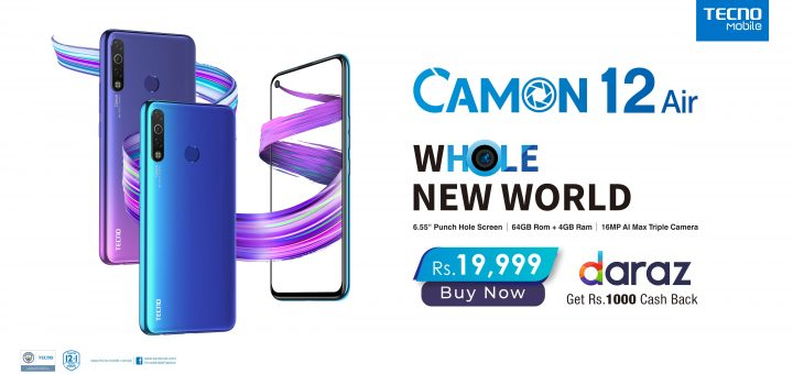 CAMON 12 Air exclusively on Daraz